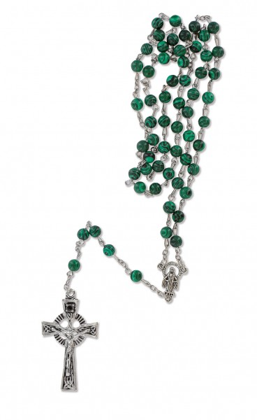 Vorschau: Rosary with Green Synthetic Pearls (700112_49172) - Detailansicht 1
