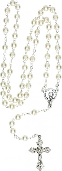 Vorschau: Rosary with White Synthetic Pearls (2-49220) - Detailansicht 1