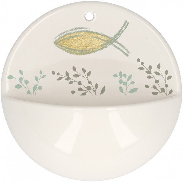 """Vorschau: Holy Water Basin """"Protection and Blessings"""" Porcelain (BB2-640125) - Detailansicht 1"""