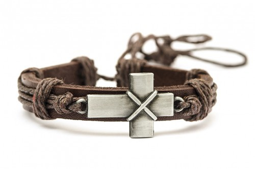 Vorschau: Leather Bracelet with Cross (880218) - Detailansicht 1